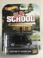 Hot Wheels Retro Entertainment Custom 1977 Dodge Van Black From OLD SCHOOL Movie