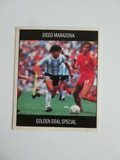 1990 World cup card Diego Maradona Argentina Golden Goal Special