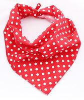 Classic Red Polka Dot Puppy Dog Handmade Bandana/Collar 100% Cotton
