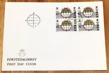 Norway Post FDC 1988.04.26. European North-South Campaign - Block of Four