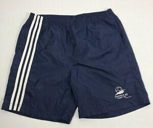 Adidas 1998 France World Cup Soccer Shorts Mens XL 90s Nylon Tri-Stripe Trunks