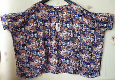 Classic Floral Chiffon Tops & Shirts Plus Size for Women
