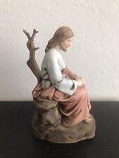 Vtg 1981 Roman Inc. Contemplative Jesus Praying Porcelain Figurine Mint Cond