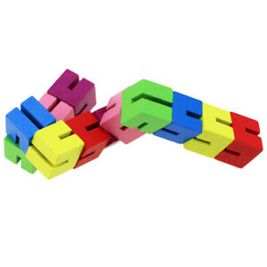 Wooden Block  Puzzles Transforming Stress Relief Toy Fine Motor Skill Sensory