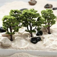 10pcs Green Tree Model Train Road Railway Layout Diorama Architecture HO N Scale