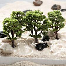 10pcs Green Tree Model Train Road Railway Layout Diorama Architecture HO N Scale