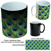 ANIMAL PRINT BLACK MUGS COLOUR CHANGING CUSTOM MUGS GIFT COFFEE MUG FOR HIM HER