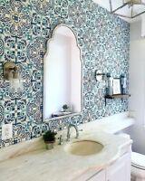 Vintage Chic Blue Florentine Medallion Tile Peel and Stick Wallpops Wallpaper