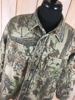 Cabela's Flannel Jacket Shirt Camouflage Hunting Mens 2XL