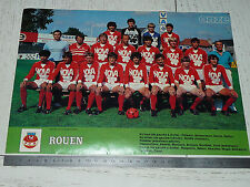 CLIPPING POSTER FOOTBALL 1983-1984 FC ROUEN ROBERT-DIOCHON DIABLES ROUGES
