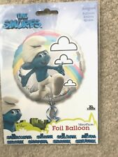 """NEW THE SMURFS MYLAR FOIL BALLOON 18"""" PARTY SUPPLIES BIRTHDAY"""