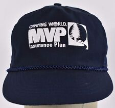 Navy Blue Camping World MVP Insurance Plan baseball hat cap adjustable snapback