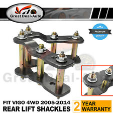 """2"""" INCH LIFT REAR EXTENDED GREASABLE SHACKLES for TOYOTA HILUX VIGO 05-2016 KIT"""