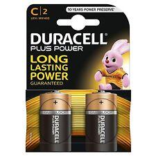 4 x Duracell C Size Plus Power Alkaline Batteries (LR14, MN1400, MX1400, BABY)