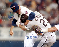 Nolan Ryan Rangers Robin Ventura signed 8X10 print photo pic poster autograph RP