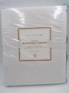 "Pottery Barn Teen Tassel Blackout Drape Panel Cool Multi 52x 84"" #L23"