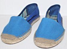 Limited Edition Womens Shoes Flats Size 10 Woman's Women's Blue Burlap Shoe's