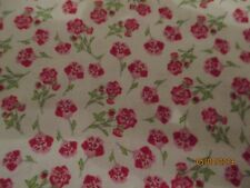 Cotton Fabric - 1 Yd Rose & Hubble For David Textiles- Tiny Roses On Stem