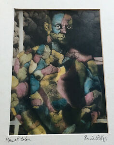 Man of Color Signed Ron Phillips Art Ronnie Photograph Collage Artwork Creative