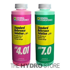 General Hydroponics pH 4.01 & pH 7.0 Calibration Solutions 8 oz -meter buffer