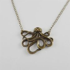 1 Piece Antiqued Bronze Alloy Octopus Pendant Jewelry Necklace Sweater Chains