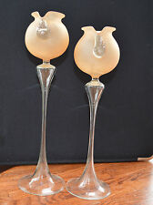 Handmade Glass Candlesticks