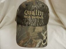 trucker hat baseball cap cool QUALITY TOOL AND MACHINE camoflage realtree nice