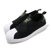 adidas Originals Superstar Slip On W Black White Gold Women Casual Shoes FV3187