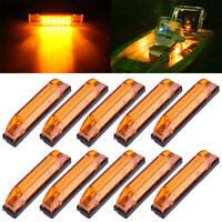 10x Marine Boat Amber Utility Strip Light Bar Courtesy Lights 6LED 12-24V Sealed