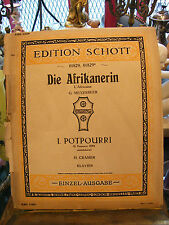 Partitura Die Afrikanerin G Meyerbeer Popurrí H Cramer para Piano