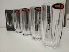 """Riedel Highball Crystal Glass Set of Made in Germany 15.5 oz 6"""" tall NEW!"""