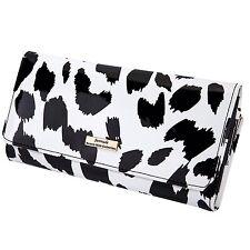 Serenade Snow Leopard Print Leather Wallet (WSH76-01)