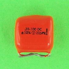 PreTested Sprague 225P Polyester Capacitor .33uf 100V DC 10% Radial Lead VDC NEW