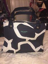 authentic vtg Kate Spade Giraffe Print PURSE animal handbag black white Green