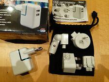 2 fach 1000mAh USB Netzteil Reise Kfz Schnell Ladegerät Handy Tablett Kamera