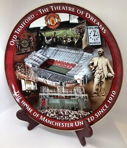 Old Trafford Theatre of Dreams Danbury Mint Collectors Plate Manchester United