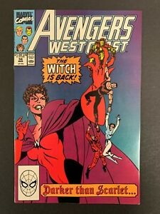 AVENGERS WEST COAST #56 *HIGH GRADE!* DARK SCARLET WITCH!  LOTS OF PICS!!