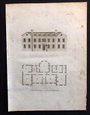 Antico 1800 Architettura Design Rivista costruttori di stampa per una casa colonica vi