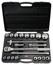 """KS-Tools 911.0721 3/4"""" Juego de llaves de zócalo, 21 Piezas 19-50mm"""