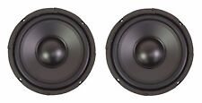 "NEW PAIR Super Heavy Duty 6.5"" / 6-1/2"" Inch speaker Sub Woofer 8 Ohm 300W"