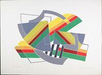 Thomas Garrett Abstract, 'Diffractor' Vintage Lithograph, VTG Serigraph Print