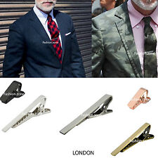 Mens Tie Clip Skinny Tie Clip Pin Silver, Gold, Gun Metal, 5cm 4cm  2cm Wedding