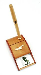 Concorde Plane Wooden Business Card and Pen Holder Plane Gift 82