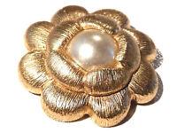 Bijou alliage doré  broche de créateur rosace GONTIE  No 1154