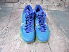 Nike Kobe X 10 705317 402 Silver Blue Green Basketball Shoes Men's Sz 12