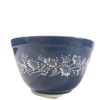 "Vintage Pyrex 5.5"" Mixing Bowl Colonial Mist Blue Floral Pattern 401"