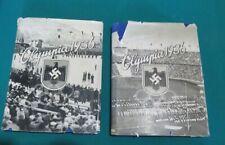 OLYMPIA 1936 BAND I,II  GERMANY  WINTER SUMMER OLYMPICS BOOK PHOTOS RARE
