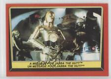 1983 #17 A Message for Jabba The Hutt Non-Sports Card 0i7