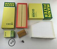 MANN-FILTER Set Filtri Filtro olio, Aria Abitacolo ablassch. A3 8P 1 2.0 TDI