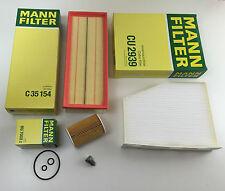 MANN-FILTER Filtro Set Olio Aria Abitacolo ablassch. A3 8P 1 2.0 TDI